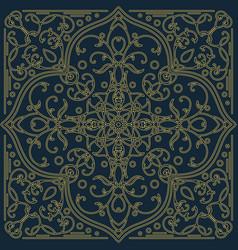 Geometric ornamental pattern vector