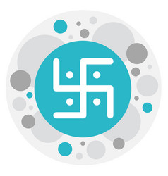 of religion symbol on swastika vector image