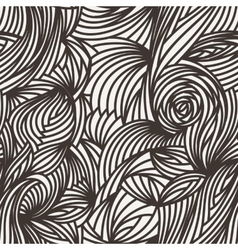 seamless abstract pattern of curled lines vector image