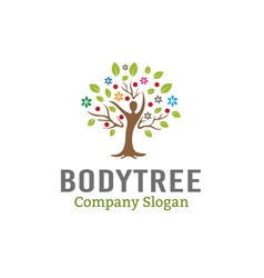 Body tree leaves design vector