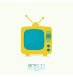 Abstract background with old tv and antenna vector