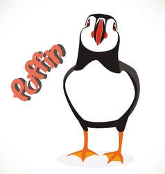 Puffin bird 2 vector