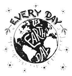 Every day is earth day holiday vector