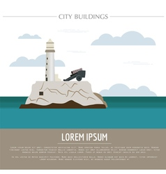 City buildings graphic template cuba vector