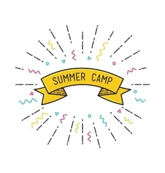 Summer camp poster in flat design vector