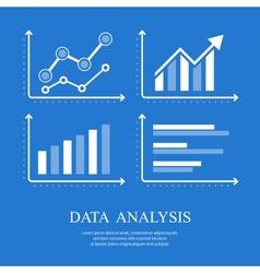 Arrow up diagrams on blue vector image vector image