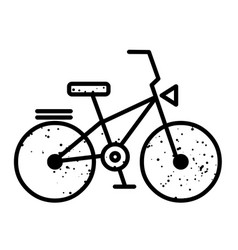 Cartoon image of bicycle icon bike symbol vector