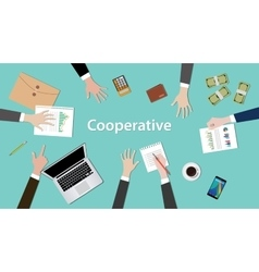 Cooperative concept discussion with vector