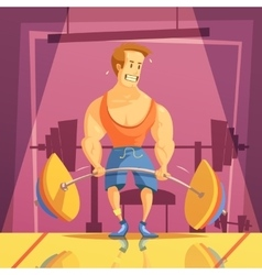 Deadlift cartoon vector