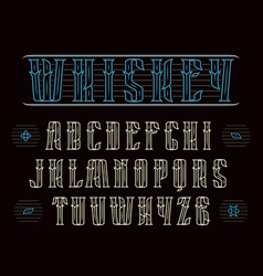 Decorative serif font in vintage style vector