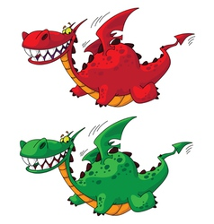 Flying dragon big vector
