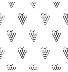 Grapes line icon seamless pattern vector