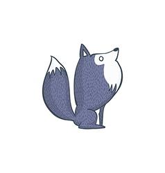 Gray wolf cartoon character vector