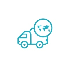 Icon for vehicle delivery services and goods vector