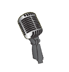 isolated microphone vector image