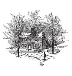 John sullivans house vintage vector