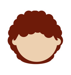 Kid faceless cartoon vector