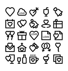 Love and Romance Icons 1 vector image vector image
