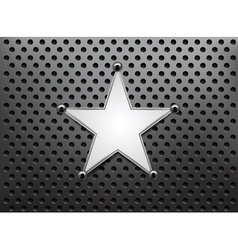 metallic star background vector image