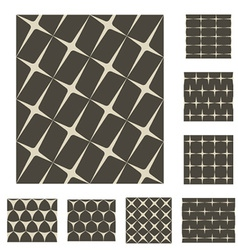 Monochrome sparkles seamless backgrounds vector