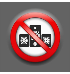 No Music Sign vector image