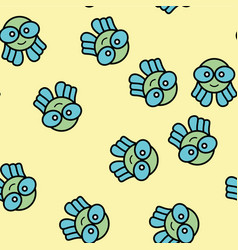 octopus animal abstract pattern design vector image