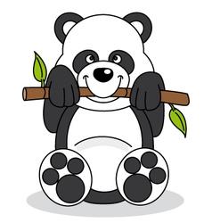 panda eating bamboo vector image