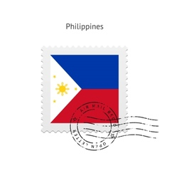 Philippines Flag Postage Stamp vector image
