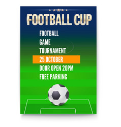 Poster of european football cup design of flyer vector
