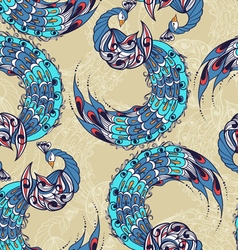 Seamless pattern with the swans vector image