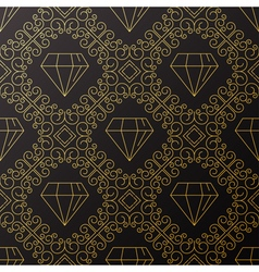 Seamless texture with vintage geometric ornament t vector