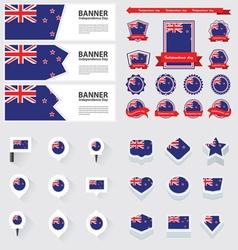 SET New Zealand vector image vector image