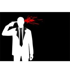 Suicide vector image vector image