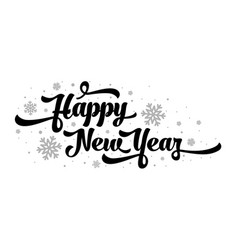 text on white background happy new year vector image vector image
