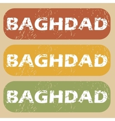 Vintage baghdad stamp set vector
