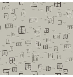 Seamless pattern of childrens drawings of windows vector image