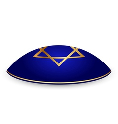 kippah with David star vector image
