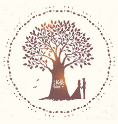 tree love vector image