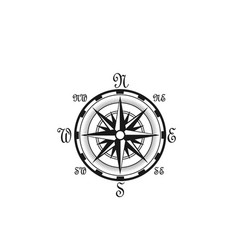 Seafarer navigation compass nautical icon vector
