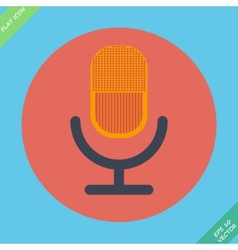 Retro microphone icon - vector