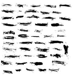 Set of various grunge design elements vector image