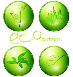 Eco green buttons vector