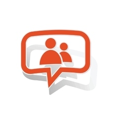 Contacts message sticker orange vector
