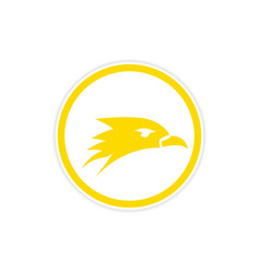 Sticker eagle head logo vector