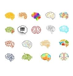 Brain Icon Set Set vector image