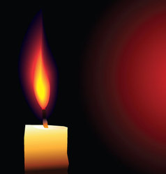 Candle background vector