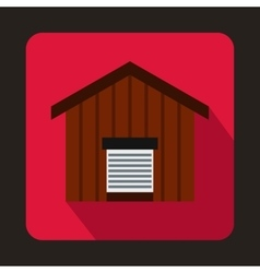 Large barn icon flat style vector