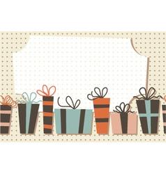 Vintage gift frame vector