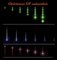 A set of create christmas animations moving color vector