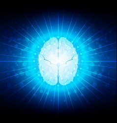 Abstract brain connection technology background vector